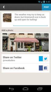 android social media app