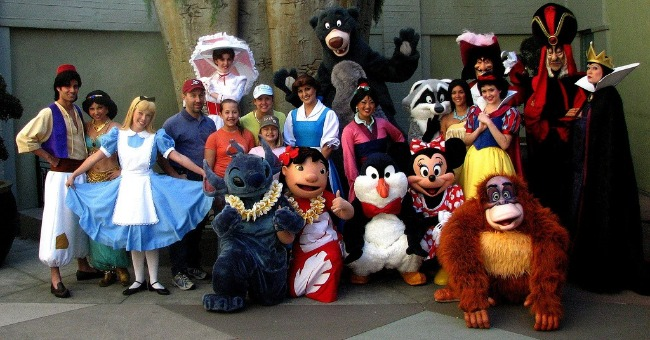 disney world characters